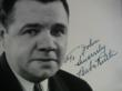 Babe Ruth signatures were among the most commonly forged sports autographs in 2012, according to PSA/DNA Authentication Services.  This is an example of a fake Ruth signature in the opinion of PSA/DNA. (Photo credit: PSA/DNA Authentication Services.)